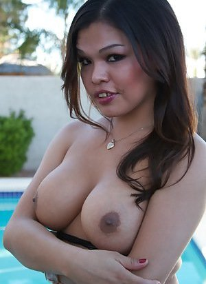 Ladyboy in Pool Pictures